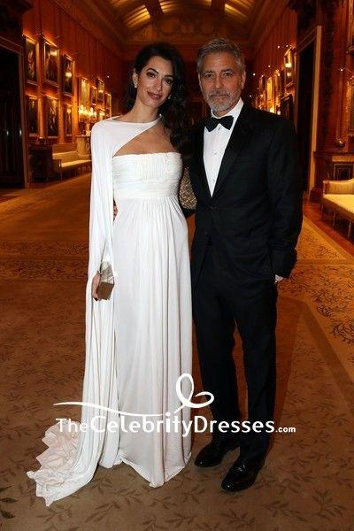 Amal Clooney Whitedress Formal Dress Prince S Trust Dinner