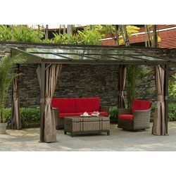 12 Ft W X 9 Ft D Aluminum Patio Gazebo Patio Gazebo Pergola Patio Patio