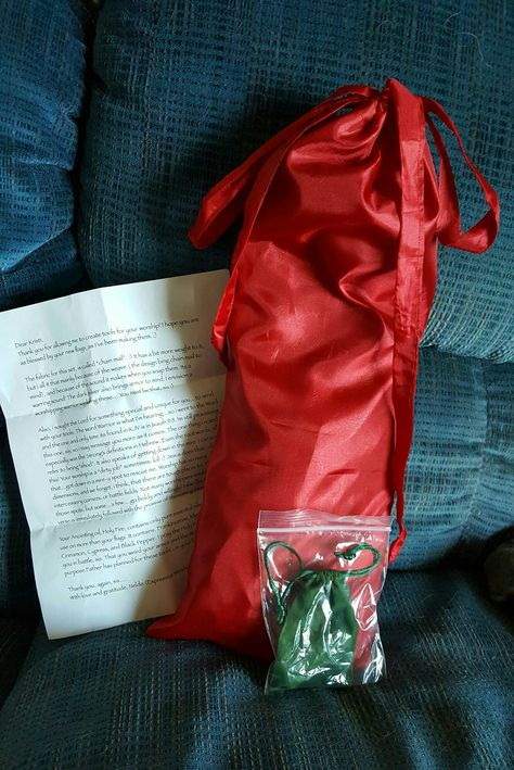 The Little Red Flag Bag Nelda Nestled My Silver Swing Flags In Plus The Holy Fire Anointing Oil And Her Letter Little Red Flag Call My Friend