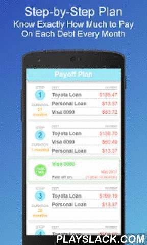 Debt Payoff Planner Android App Playslack Com No Login Required Just Down Credit Card Debt Paying Off Ideas Debt Payoff Credit Card App Debt Payoff Plan