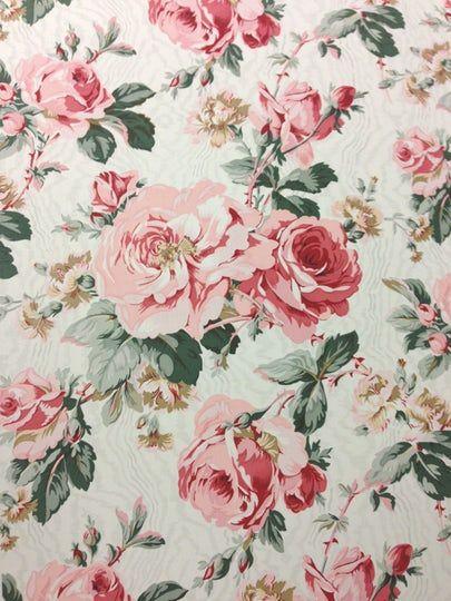 School Lane Vintage Chic Roses Floral Flowers 100/% Cotton Fabric