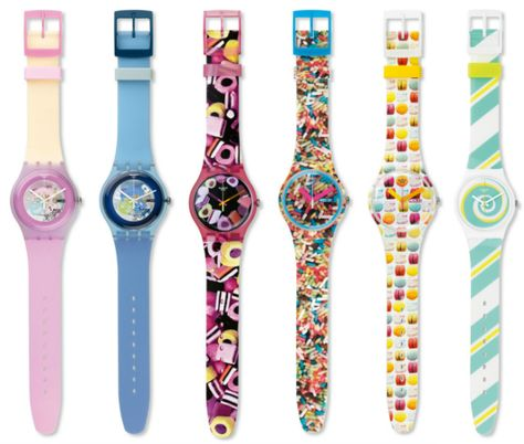 Swatch does wrist candy for sugar fiends: Its latest Pastry Chefs collection whips up watches inspired by macarons and more sweet treats.