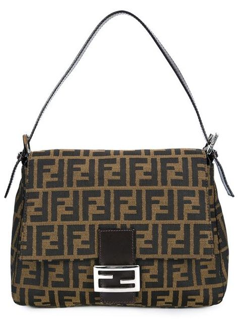 b53fc9e152bb Fendi Vintage Signature Monogram Shoulder Bag - Bella Bag - Farfetch ...