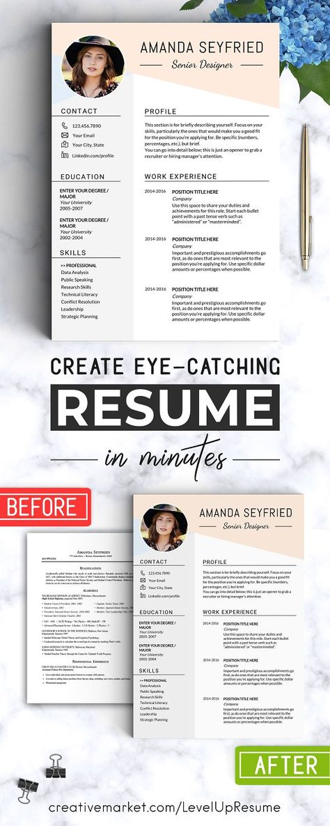 Feminine Resume Template  Cv Creativework  Templates