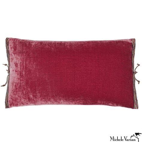 Raspberry Velvet Decorative Pillow