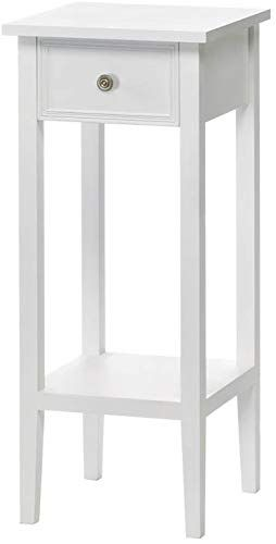 New White Accent Table Plant Stand Online Small White Bedside