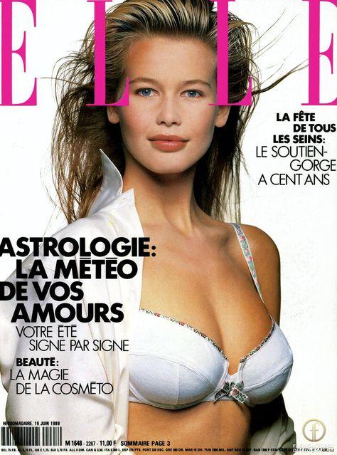 Claudia Schiffer by Gilles Bensimon for Elle France June 1989