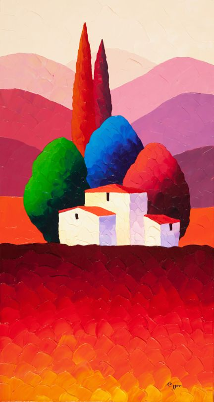 "Sveta Esser (Russian born Israeli, 1975) ""Crimson Reflections"""