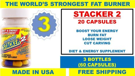 Stacker 3 Ephedra Free 240ct 12x20ct Weight loss & Energy