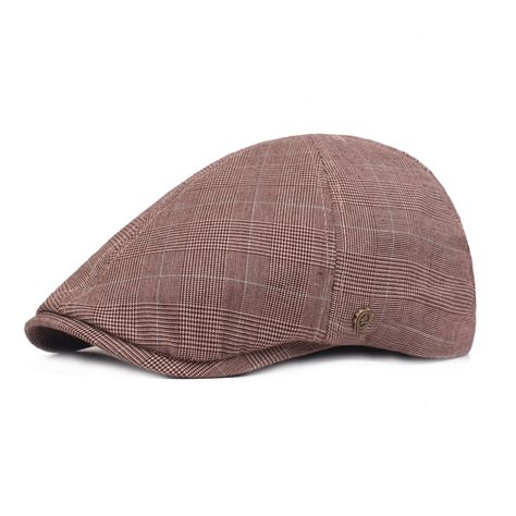 Men's Vintage Casual Beret Cap Breathable Lattice Cotton Cap Outdoors Hat - NewChic