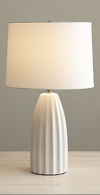 Ella White Ceramic Table Lamp Reviews Crate And Barrel Table Lamps Living Room Table Lamps For Bedroom White Bedside Lamps