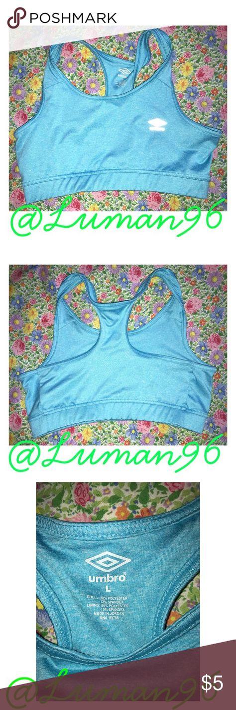 91d14c1b437df Blue sports bra Bright blue sports bra. Worn a few times but in amazing  condition. Umbro Intimates   Sleepwear Bras