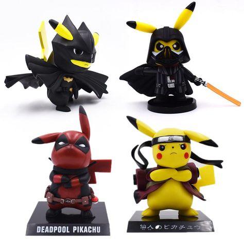Deadpool Captain America Darth Vader Pikachu Cosplay PVC Figure Collectible Mode