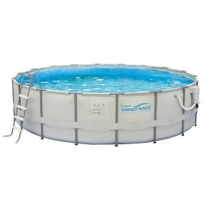 Summer Waves Elite Proseries 9 Ft X 18 Ft Rectangular 52 In Deep Metal Frame Above Ground Pool Nb2046 The Home Depot Swimming Pools Summer Waves In Ground Pools