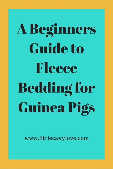 Want to learn the beginning basics of fleece bedding? Click here to learn how to start using fleece now!