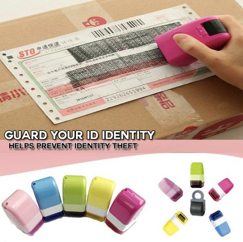 ID Roller Stamp Data Security Protection Theft Prevention Identity Guard Rolling
