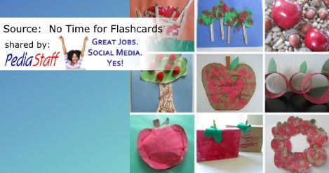 Easy Apple Crafts for Kids - PediaStaff