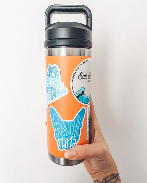 NEW STICKERS! . Stickers have been added to the site! LIMITED quantity! . You can't have a solid beach day without your @yeti + sprucing it up with the most colorful stickers makes it that much better!