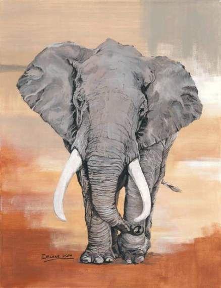 Painting Acrylic Elephant Saatchi 53 Ideas Elephant Artwork Elephant Painting Canvas Bull Painting