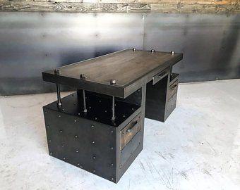 Dalton Executive Desk Etsy Muebles Industriales Clasicos