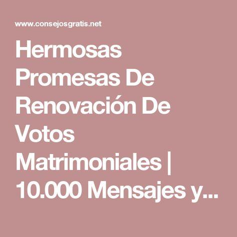 Hermosas Promesas De Renovación De Votos Matrimoniales