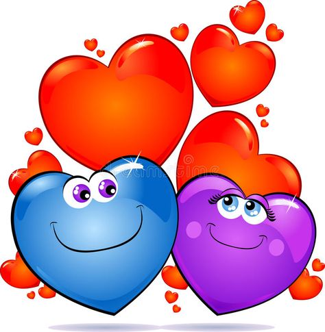 Hearts in love royalty free illustration
