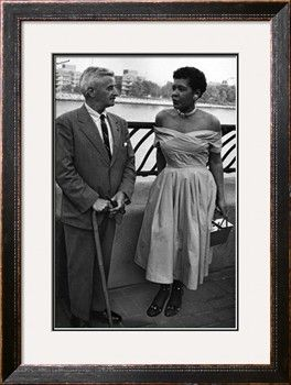 Billie Holliday and Author William Faulkner - 1956 Photographic Print by Moneta Sleet at Art.com