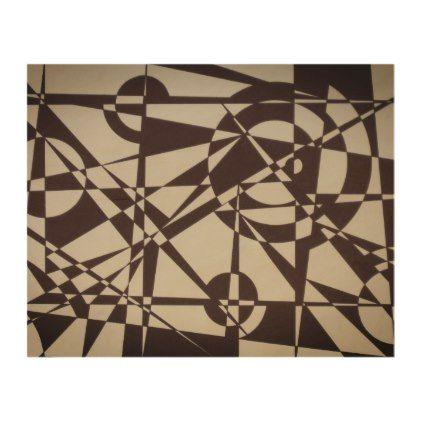 Black White Beige Geometric Modern Wood Print Zazzle Com Wood Print Wood Wall Art Modern Wood