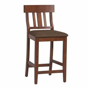Tremendous 24 Slat Back Counter Stool In Dark Cherry Kitchen Remodel Machost Co Dining Chair Design Ideas Machostcouk