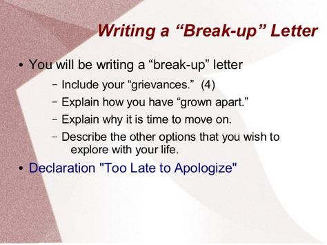 Teachinf The Declaration Of Independence As A Break Up Letter