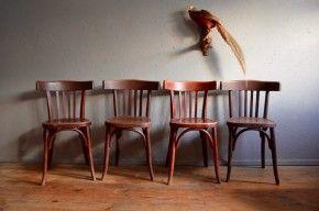 Chaises De Cuisine Ou De Salon Anciennes Vintage Bistrot Fischel Serie Lot De 4 Six Signees Chaise Cuisine Meuble Vintage Idees Pour La Maison
