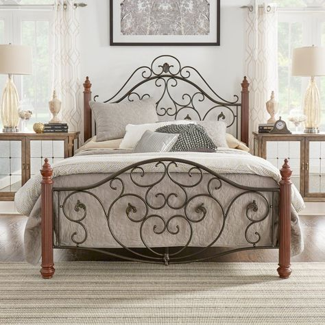 Weston Home Victorian Metal Scroll Panel Bed 684512f 1 Bd Weston Home Bed Metal Beds
