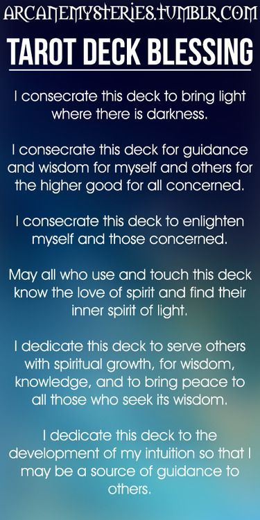 Tarot Card Deck Blessing | Witches Of The Craft®