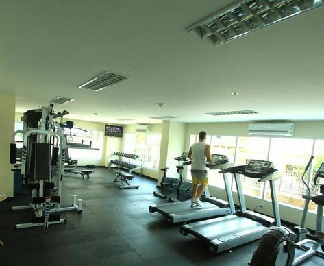 My Full Gym In Small Apartment How I Did It Like Hotel Gyms Many Apartment Fitness Centers Only Offer A Few Necessi Luxury Apartment Pool Hotel Apartment Pool