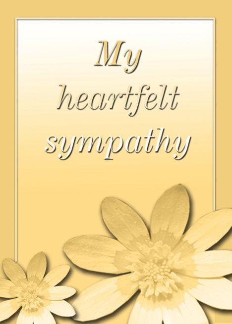 My Heartfelt Sympathy Yellow Floral Card Ad Ad Sympathy Heartfelt Yellow Card Floral Cards Yellow Floral Floral