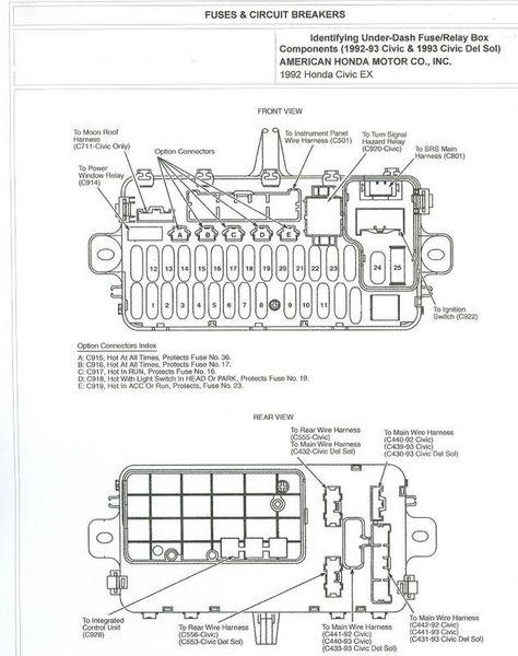 Civic EG :: View topic - '92-'95 Civic Fuse Box Diagrams ... on