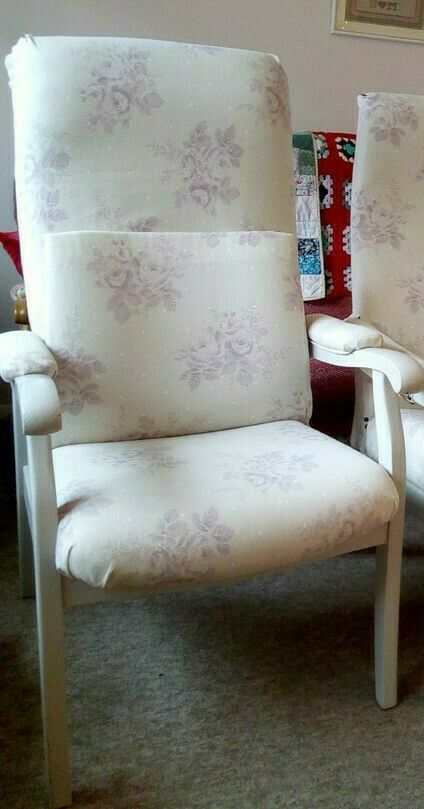 This Is A Lovely Used Cintique High Back Armchair Recovered A