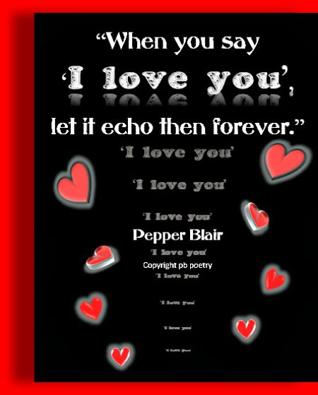 Wwwlove Quotes Cool Let It Echo Picture Quotepepper Blair Httpwww.lovepb