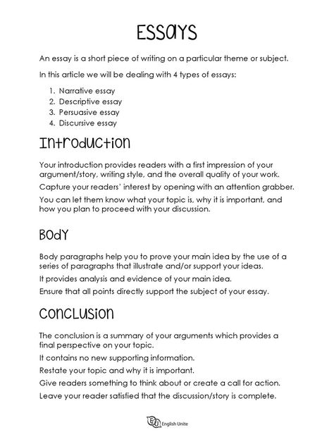 Essay Archives - English Unite