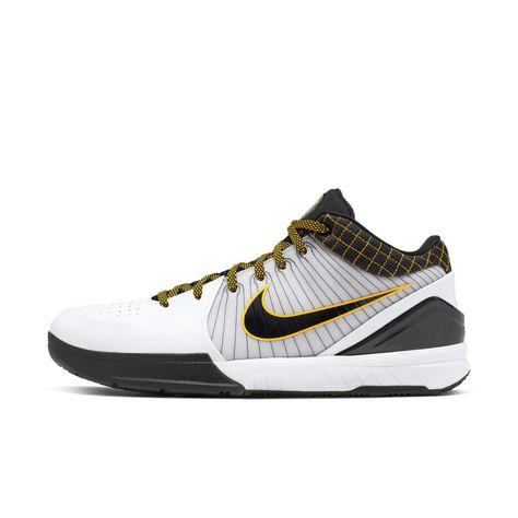 Nike Kobe Iv Protro Basketball Shoe Size 6 5 White Basketball Shoes Kobe Nike Basketball Shoes Kobe Basketball Shoes