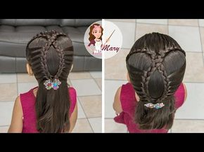 Peinados Faciles Para Nina Paso A Paso Tutorial Trenzas De Moda Youtube Little Girl Hairstyles Dance Hairstyles Hair Styles