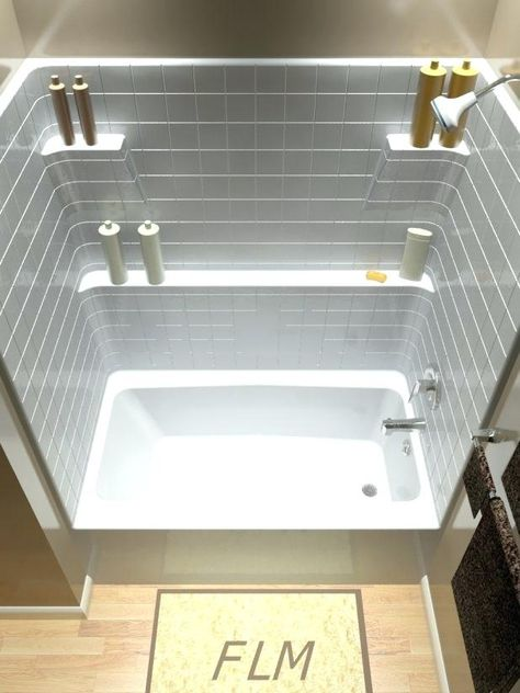 Lowes One Piece Shower Tub Combo Bathroom Beautiful Fiberglass