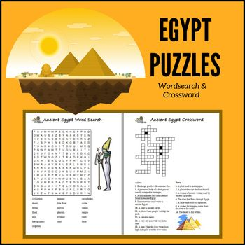 Egypt Puzzles Word Search Crossword Egypt Puzzles Hieroglyphics