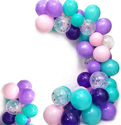 Amazon Com Balloon Garland Pink Black Purple Mermaid Balloons Mermaid Party Decorations Confetti Balloons