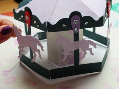 How To Make A Pop Up Card Carousel Pop Up Card Step 12 Pop Out Cards Pop Up Box Cards Pop Up Cards