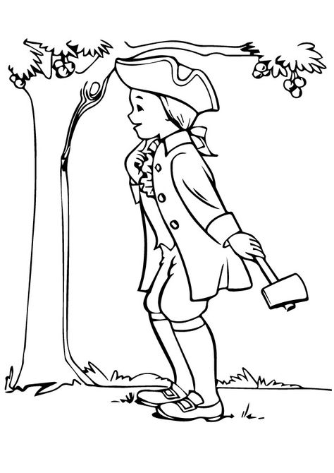 10 Best George Washington Coloring Pages For Toddlers Coloring