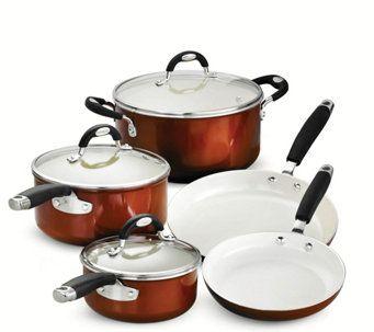 Tramontina Style Ceramica 8 Piece Cookware Set K375795 Copper Cookware Set Copper Cookware Cookware Set