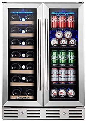 Amazon Com Kalamera 24 Beverage And Wine Cooler Dual Zone Built In And Freestanding With Stainless St In 2020 Stainless Steel Doors Steel Doors Built In Wine Cooler