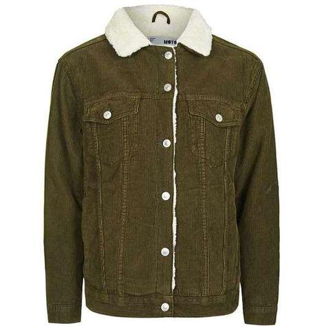 87c72bbd03568 TopShop Moto Khaki Oversized Borg Jacket ( 125) via Polyvore featuring  outerwear