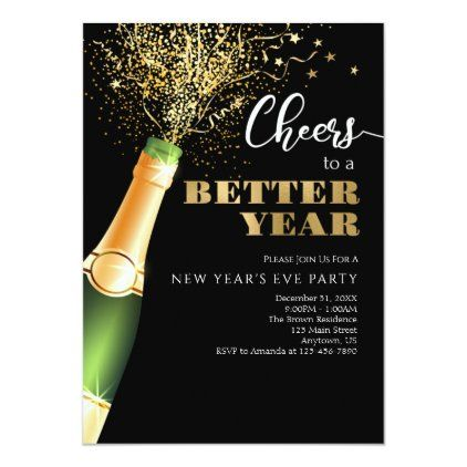 New Year S 2020 2021 Cheers To A Better Year Invitation Zazzle Com Custom Holiday Card New Year 2020 Cheer